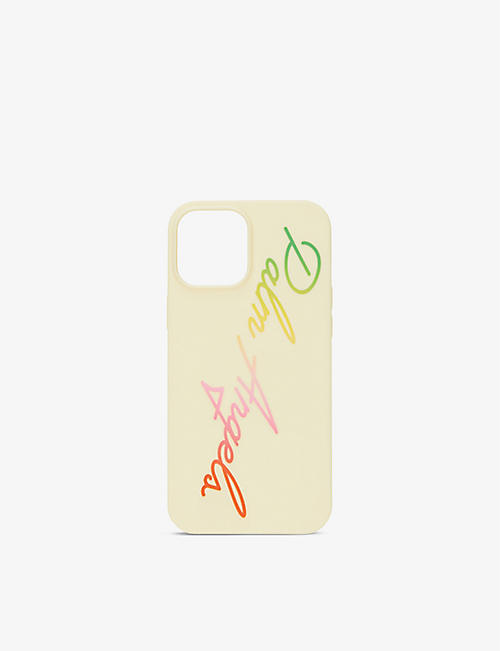 PALM ANGELS: Rainbow logo-print iPhone 12 Pro Max phone case