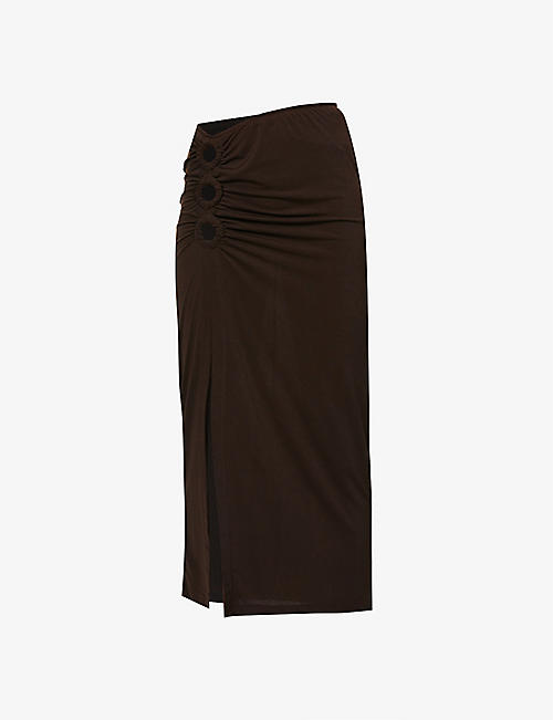 MUSIER PARIS: Adriana high-waist stretch-woven midi skirt