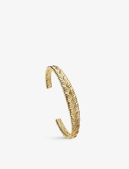 MISSOMA: Braid 18ct gold-plated brass cuff bracelet