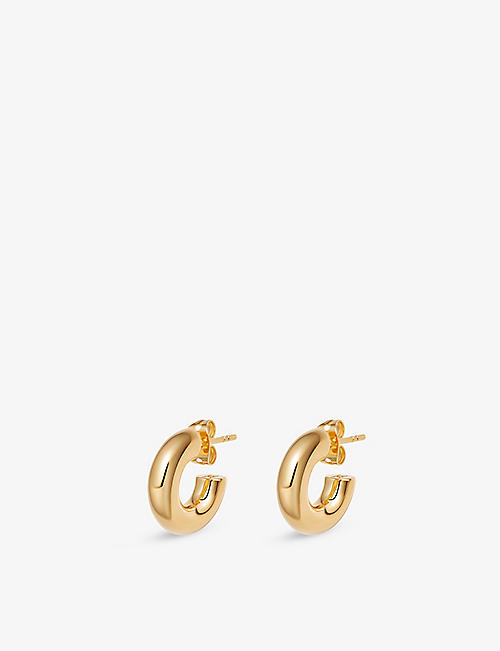 MISSOMA: Mini Chubby 18ct yellow gold-plated brass hoop earrings