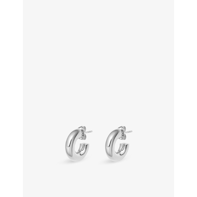 Missoma Earrings MINI CHUBBY SILVER-PLATED BRASS HOOP EARRINGS