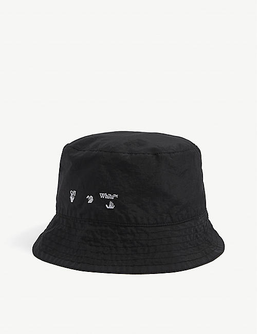 OFFWHITE: Logo-embroidered nylon bucket hat