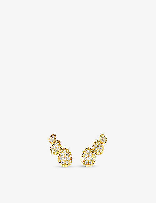 BOUCHERON: Serpent Bohème Diamants 18ct yellow-gold and 0.98ct diamond earrings