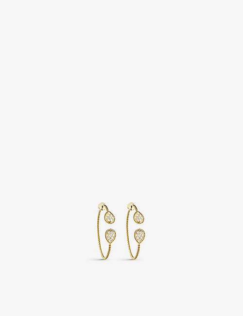 BOUCHERON: Serpent Bohème Diamants 18ct yellow-gold and 1.38ct diamond earrings