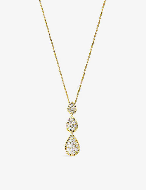BOUCHERON: Serpent Bohème Diamants 18ct yellow-gold and 3.25ct diamond pendant necklace