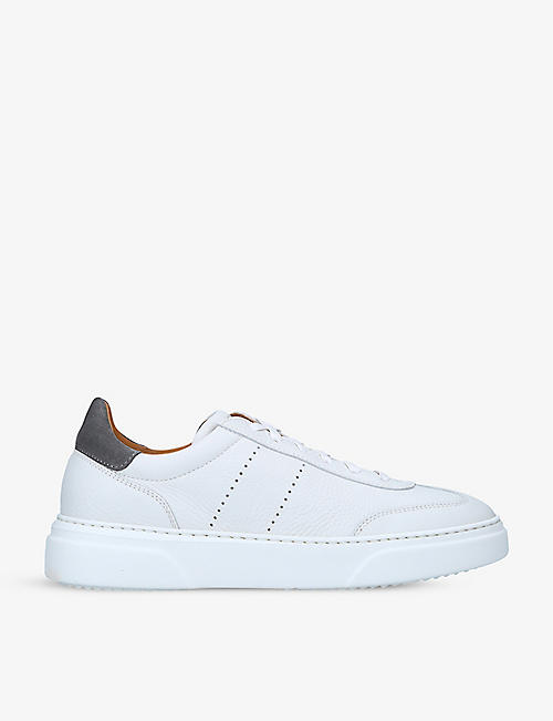 MAGNANNI: Reina II low-top leather trainers