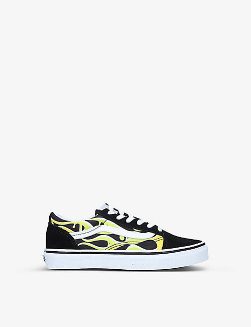 VANS: Old Skool canvas and leather trainers 8-10 years