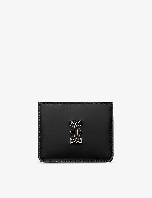 CARTIER: Double C de Cartier leather card holder