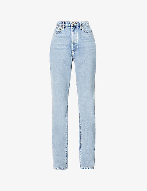 KHAITE: Daria faded skinny high-rise jeans