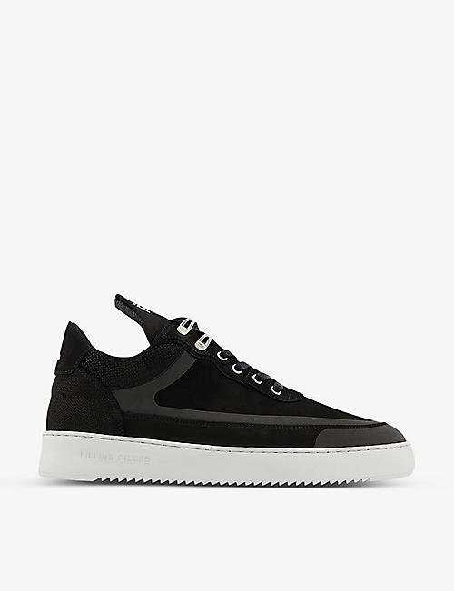 FILLING PIECES: Low Top Ripple suede trainers