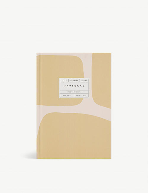 KATIE LEAMON: Giraffe graphic-print lay-flat 300-page A5 notebook