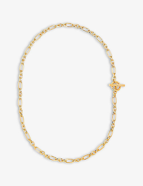 TILLY SVEAAS: Watch Chain 18ct yellow gold-plated bronze necklace