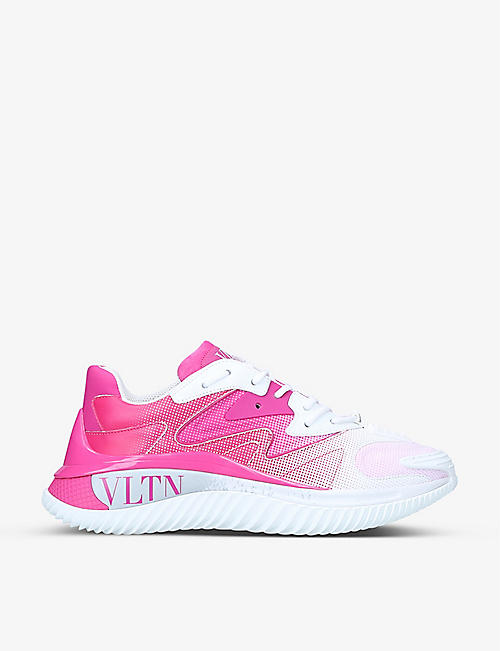 VALENTINO GARAVANI: VLTN Wade Runner textile and leather trainers