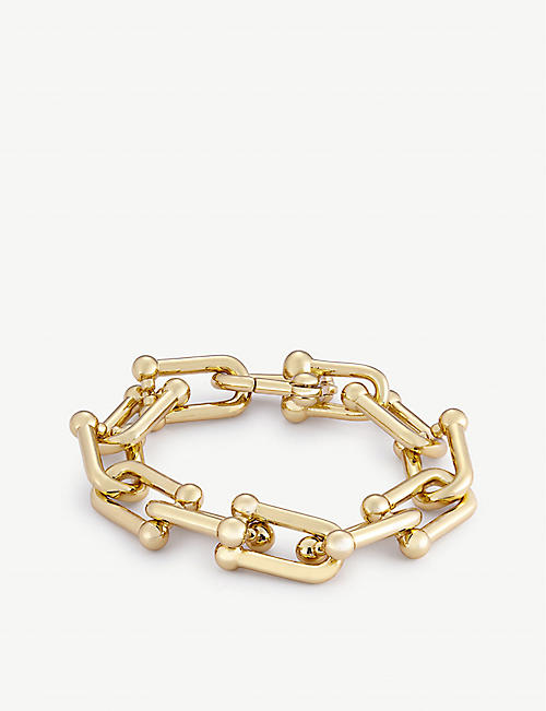 OMA THE LABEL: Kosi 18ct yellow gold-plates brass bracelet