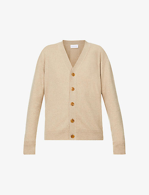 RILEY STUDIO: Relaxed fit V-neck cashmere and wool-blend cardigan