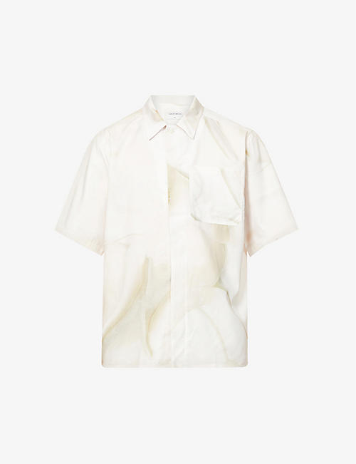 TIGER OF SWEDEN: Farson cotton-blend short-sleeve shirt