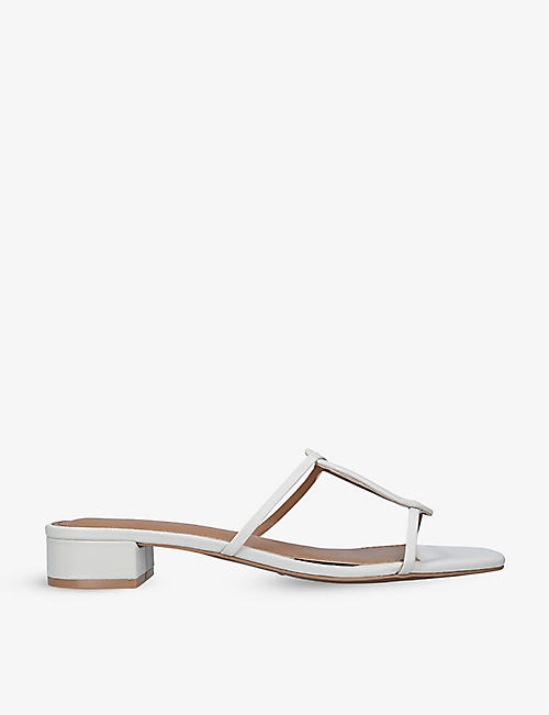 WHO WHAT WEAR: Alexa open-toe leather heeled sandals