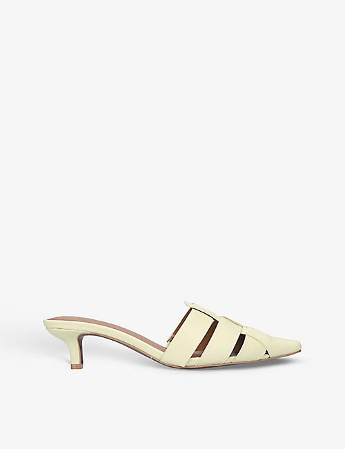 WHO WHAT WEAR: Petra heeled leather mules