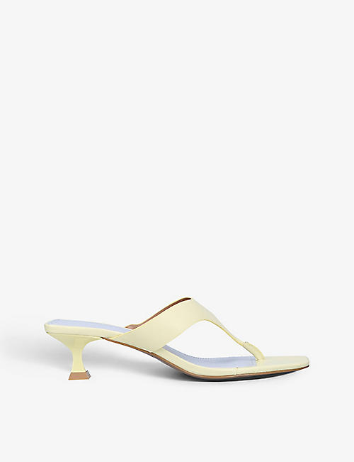 WHO WHAT WEAR: Sydney heeled leather sandals