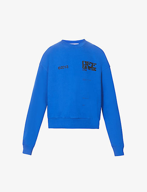 OFF-WHITE C/O VIRGIL ABLOH: Tech Marker graphic-print cotton-jersey sweatshirt