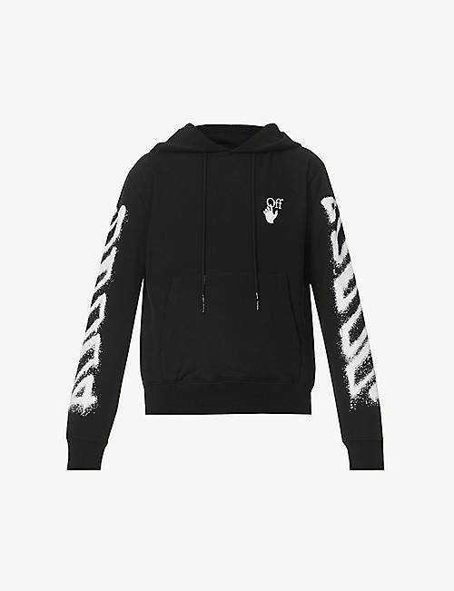 OFF-WHITE C/O VIRGIL ABLOH: Spray Marker graphic-print cotton-jersey hoody