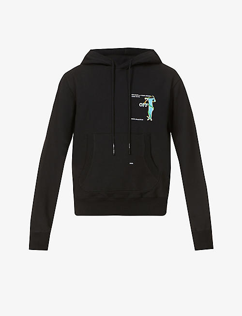 OFF-WHITE C/O VIRGIL ABLOH: Adam Is Eve graphic-print cotton-jersey hoody