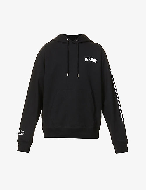 HELMUT LANG: Impress text-print cotton-jersey hoody