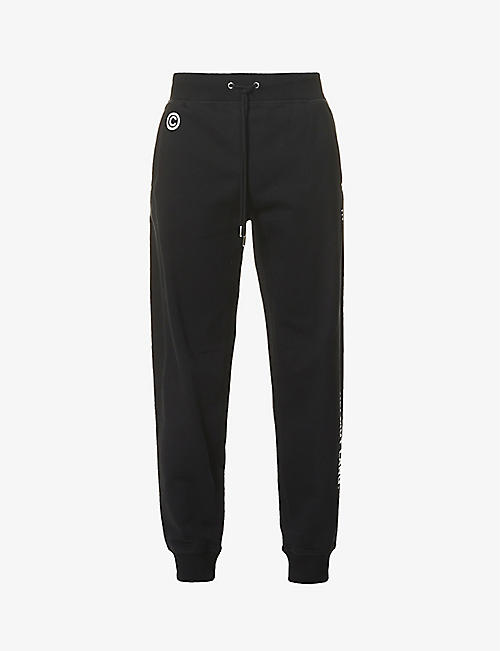 HELMUT LANG: Impress brand-print cotton-jersey jogging bottoms