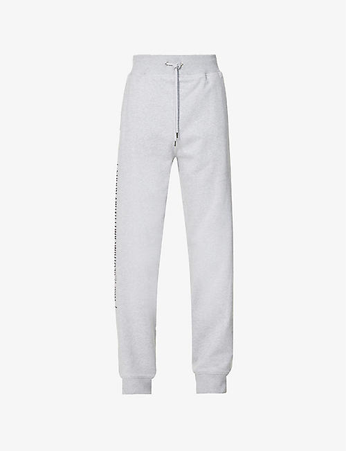 HELMUT LANG: School graphic-print cotton-jersey jogging bottoms