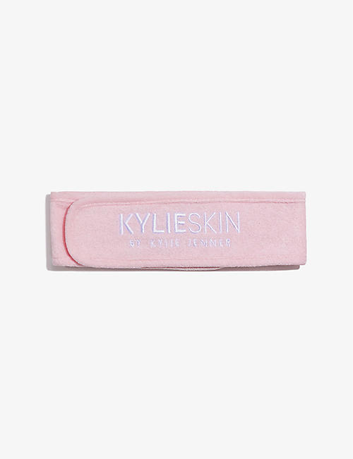 KYLIE SKIN BY KYLIE JENNER: Logo-embroidered woven terrycloth headband