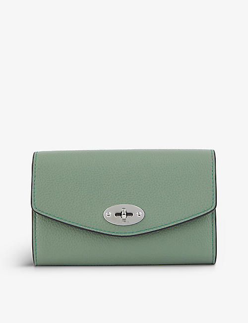 MULBERRY: Darley medium grained-leather wallet