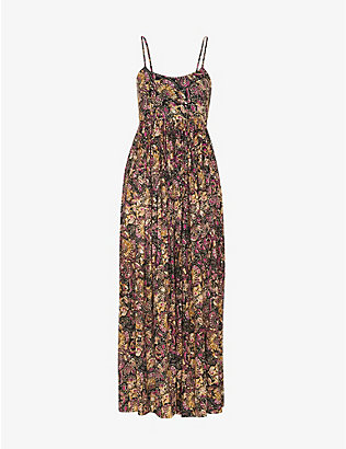WHISTLES: Batik Carmen graphic-print woven midi dress