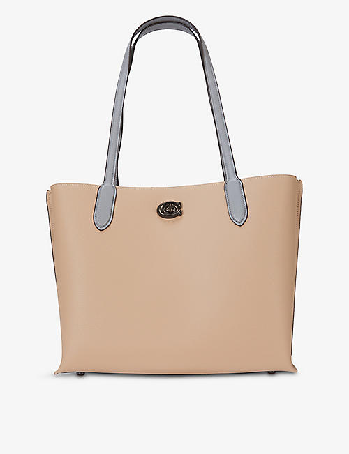 COACH: Willow leather tote bag