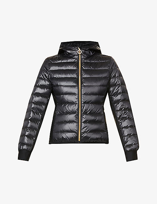 GOLDBERGH: Nadia hooded quilted shell jacket