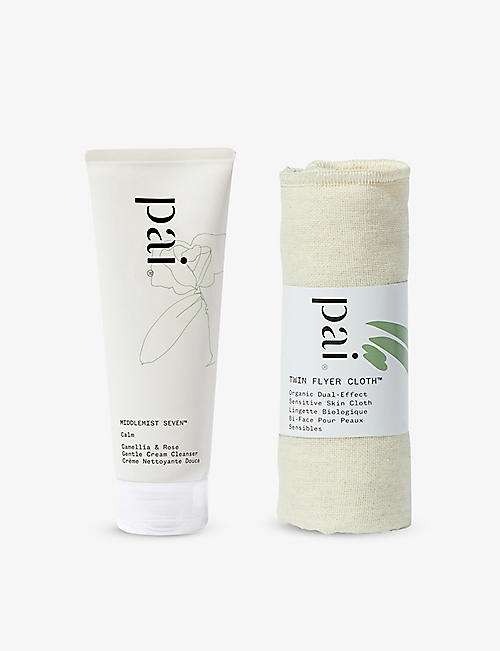 PAI SKINCARE: Middlemist Seven Camellia and Rose Gentle cream cleanser and cloth