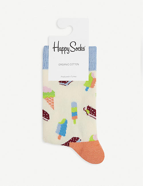 HAPPY SOCKS: Sweets cotton-blend socks pack of two 2-9 years