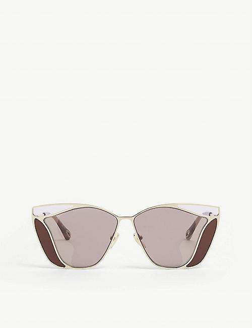 CHLOE: CH0049S Gemma metal and acetate square-frame sunglasses