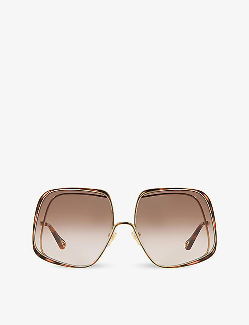 CHLOE: CH0035S square-framed metal sunglasses