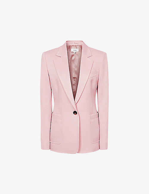 REISS: Ember single-breasted woven blazer
