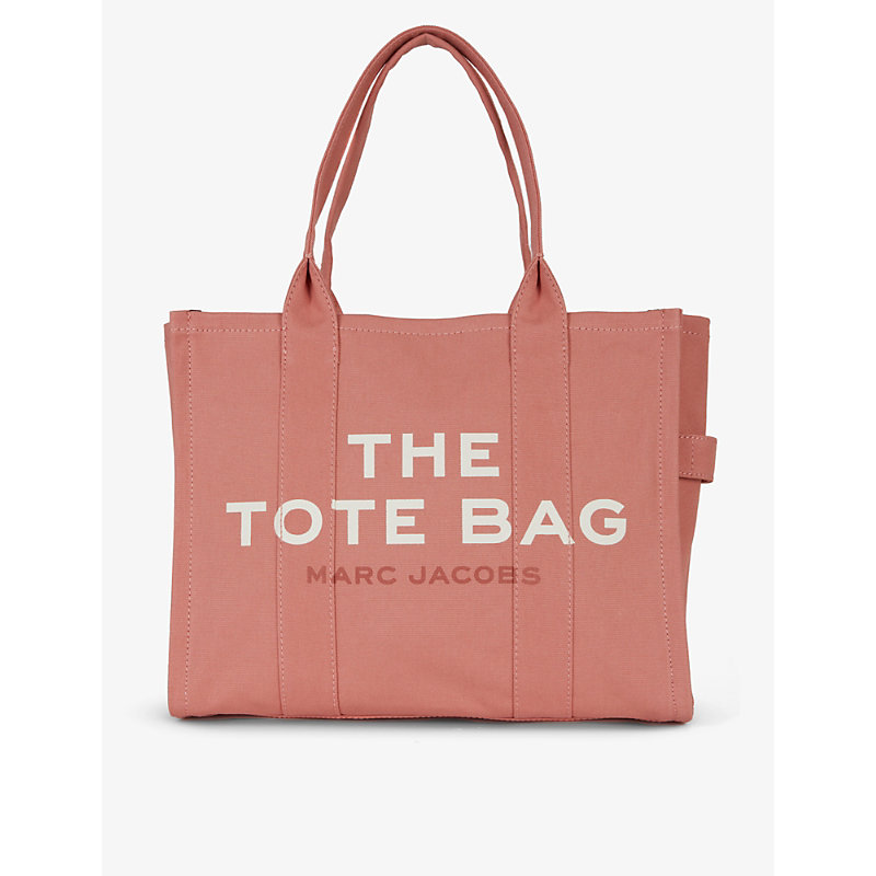 Marc Jacobs The Tote Cotton-canvas Tote Bag In Sweet Pea