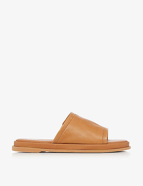 DUNE: Laurena leather slides