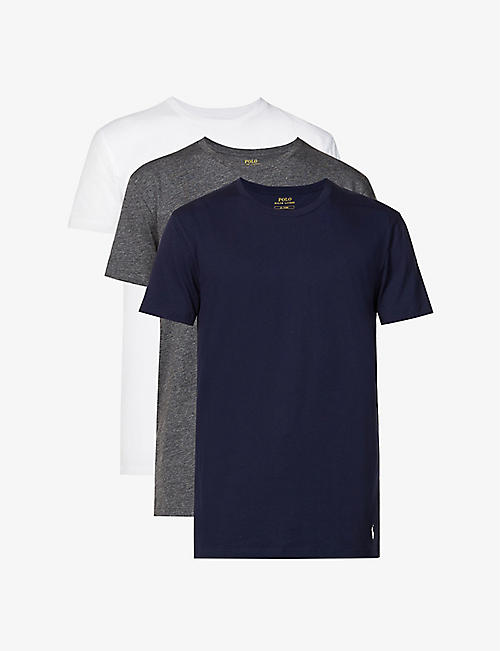 POLO RALPH LAUREN: Three pack cotton crew neck t-shirts
