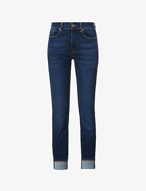 7 FOR ALL MANKIND: Relaxed Skinny mid-rise slim-fit skinny jeans