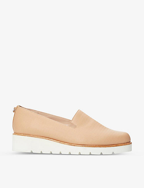 DUNE: Gliding platform leather loafers