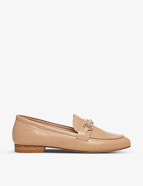 DUNE: Grange snaffle-trim leather loafers