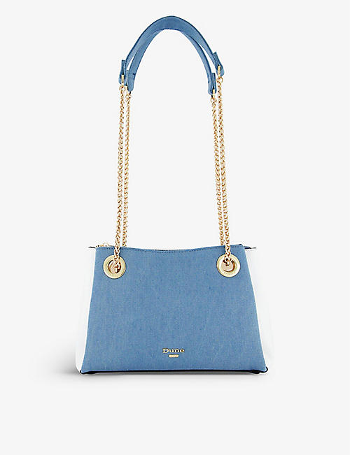 DUNE: Bevette chain faux-leather tote bag