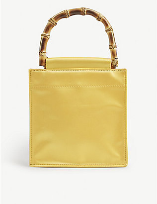 HAI: Bamboo small recycled-silk handbag