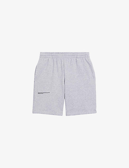PANGAIA: Text-print mid-rise organic-cotton shorts 3-12 years