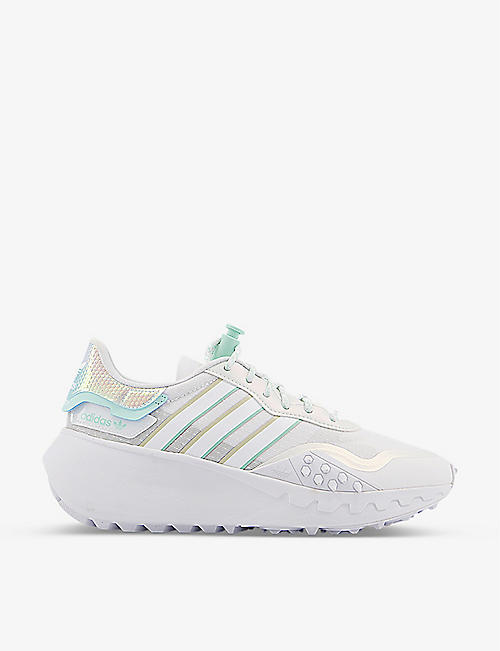 ADIDAS: Choigo panelled textile and mesh trainers