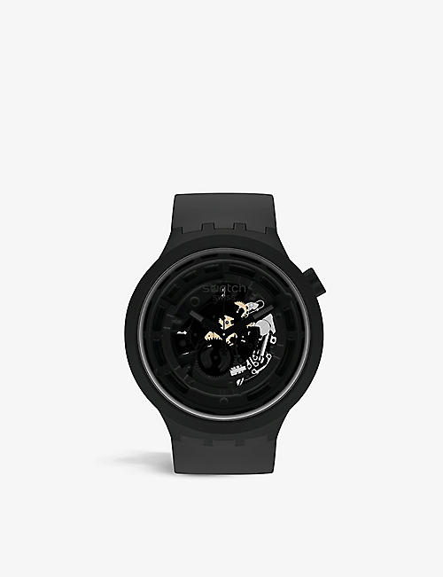 SWATCH: SB03B100 C-Black Bioceramic chronograph watch